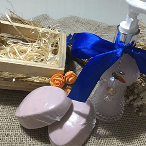 Kit properidade com sabonete liquido de lavanda – Com pingentes olho grego e pimenta